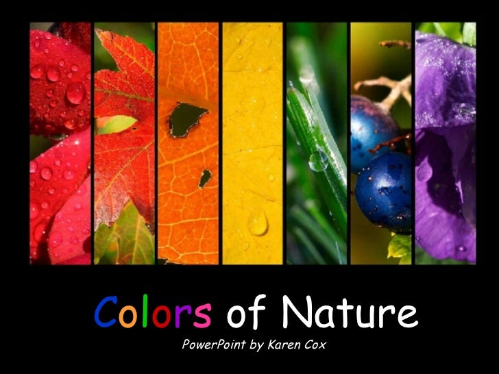 C o l o r s   of Nature PowerPoint by Karen Cox