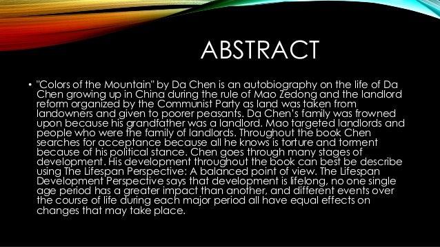 colors of the mountain da chen