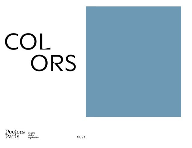 COLORS SPRING / SUMMER 21 TREND BOOK — PECLERS PARIS