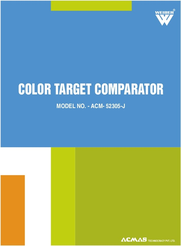 TECHNOCRACY PVT. LTD. COLOR TARGET COMPARATOR MODEL NO. - ACM- 52305-J R