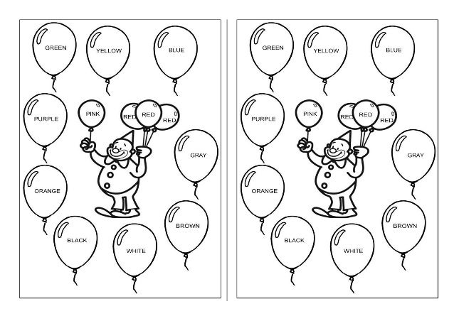the clown and ballons