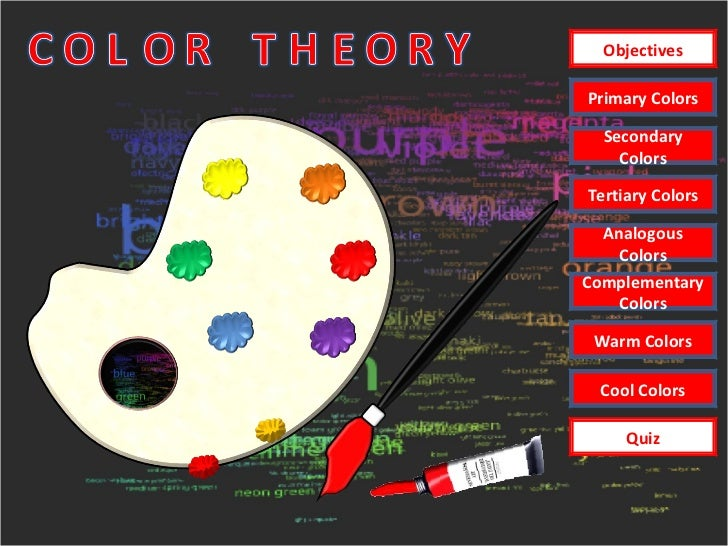 Primary Colors Secondary Colors Tertiary Colors Analogous Colors Warm Colors Cool Colors Complementary Colors Objectives Q...