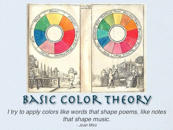 Basic Color TheoryI try to apply colors like words that shape poems, like notes                        that shape music.  ...