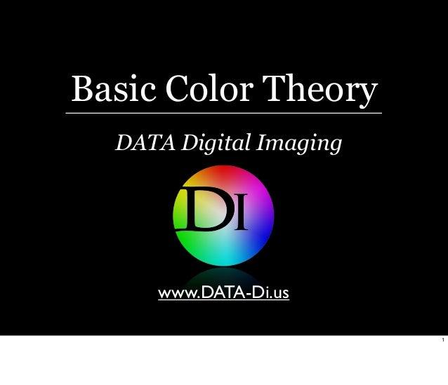 Basic Color Theory DATA Digital Imaging  www.DATA-Di.us 1