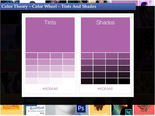 Color Theory Wheel Tints And Shades