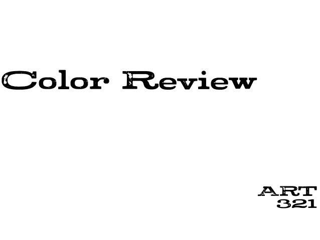 Color Review ART 321