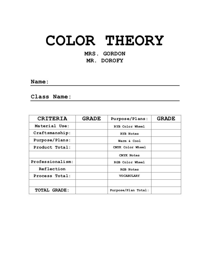 Color Theory Packet