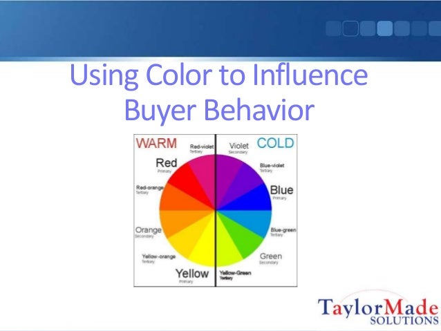 Using Color to Influence Buyer Behavior