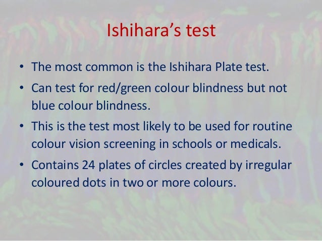 Color Vision Deficiency And Ishihara S Test