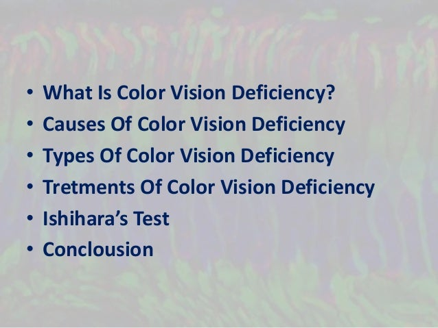 the causes of color blindness The exact physical causes of colour blindness are still being researched but it is  believed that colour blindness is usually caused by faulty cones but sometimes.