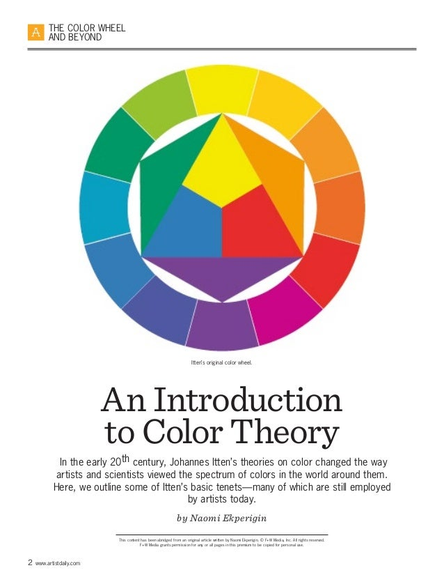 Learn basic color theory and how to create beautiful color