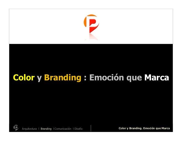 Color y branding2007