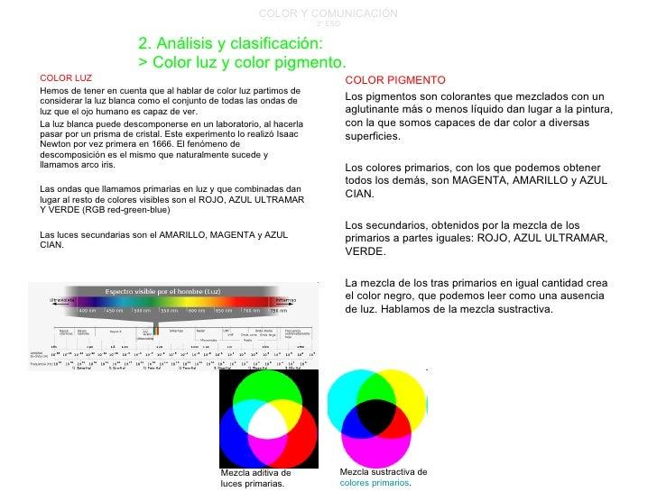 COLOR Y COMUNICACIÓN 3º ESO COLOR LUZ Hemos de tener en cuenta que al hablar de color luz partimos de considerar la luz bl...