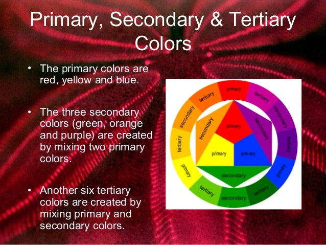 7 Primary Secondary Tertiary Colors