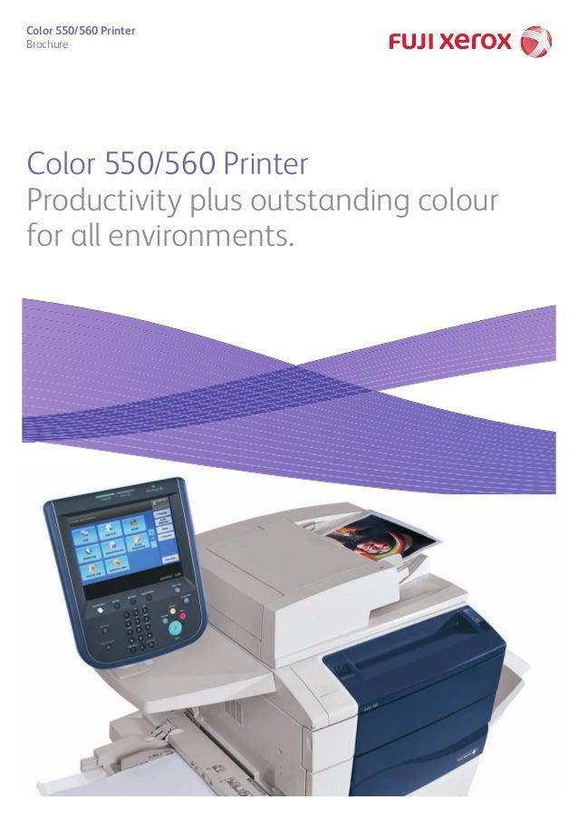 Color 550/560 Printer Brochure Color 550/560 Printer Productivity plus outstanding colour for all environments.