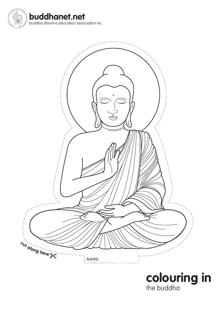 coloring pages buddah - photo#34