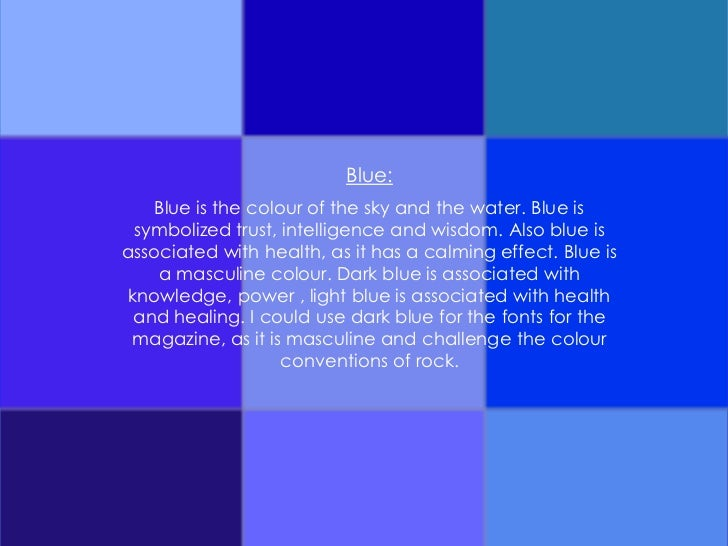 What does the color blue represent?