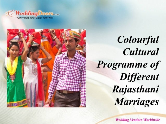 Colourful Cultural Programme of Different Rajasthani Marriages