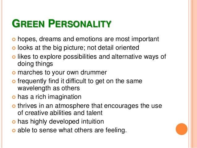 7. GREEN PERSONALITY ... abe2c2b6b