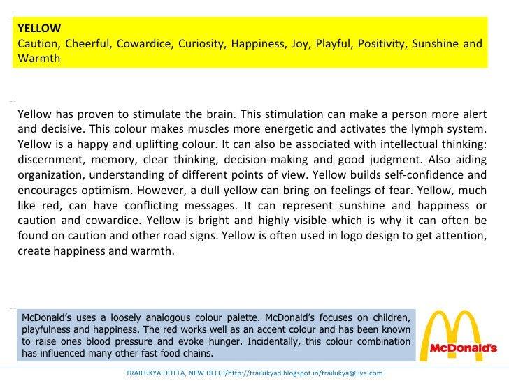 YELLOWCaution, Cheerful, Cowardice, Curiosity, Happiness, Joy, Playful, Positivity, Sunshine andWarmthYellow has proven to...