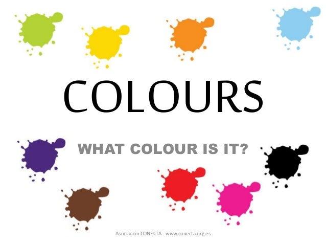 Colours - Ejercicios sobre los colores en inglés