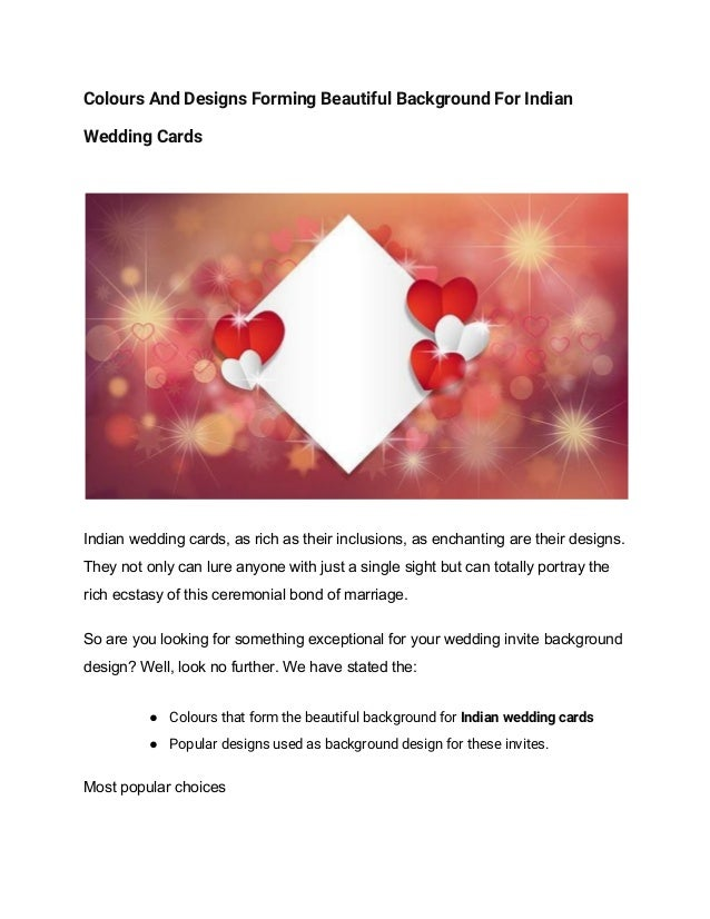Colours And Designs Forming Beautiful Background For Indian Wedding C