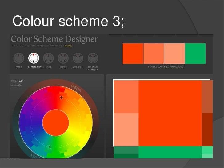 Colour scheme 3;