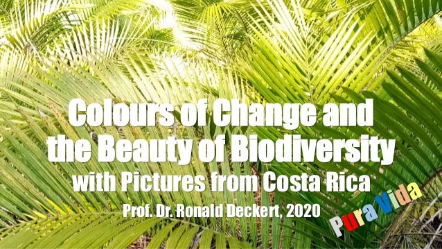 Colours of Change and the Beauty of Biodiversity with Pictures from Costa Rica Prof. Dr. Ronald Deckert, 2020