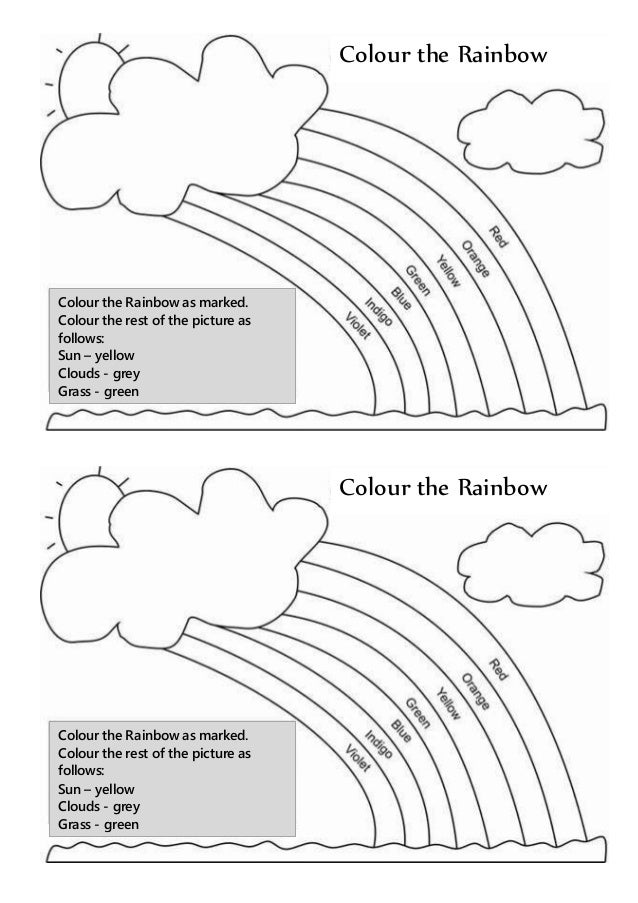 Rainbow Coloring Pages Pdf : Colour the rainbow