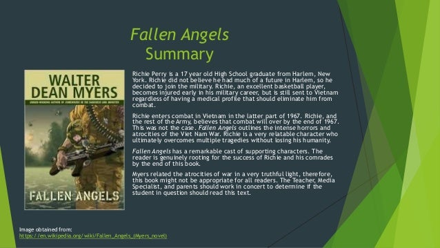 a literary analysis of the character richie perry Fallen angels is set during the vietnam war and offers an intimate portrayal of combat through the focalizing character, seventeen-year-old, richie perry the michael l printz award-winning novel, monster, reveals the inner thought processes of sixteen-year-old steven harmon, who is on trial for murder each work encourages readers to consider.