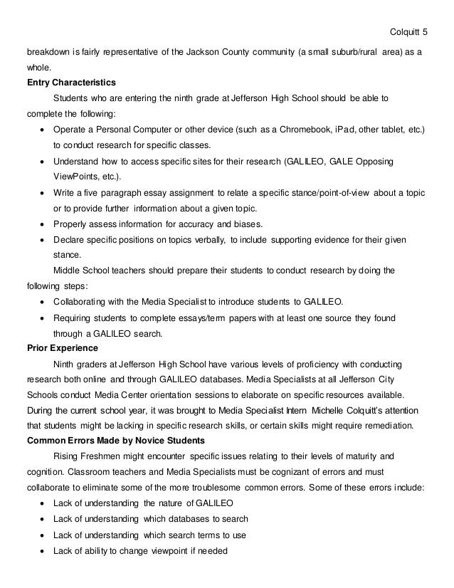 Michelle Colquitt Professional Development Lesson Plan – Point of View Worksheets for Middle School