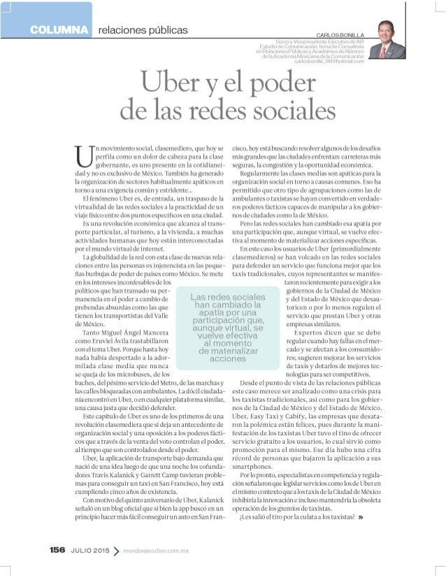 relaciones públicas  CARLOS BONILLA  Ï: i!'4'  I/ /I4'i'lHNMIil/ Vitr'LIIV IiIiv/ uln/ xii  _p Uber vel poder delas redes ...