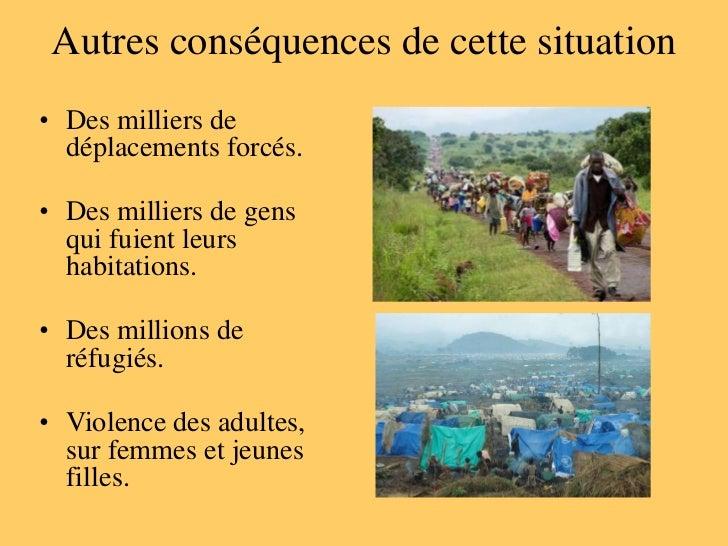 Conséquences sur le territoire• Pour extraire le coltan du Congo  les Parcs nationaux ont été  envahis.• Les ouvriers du c...