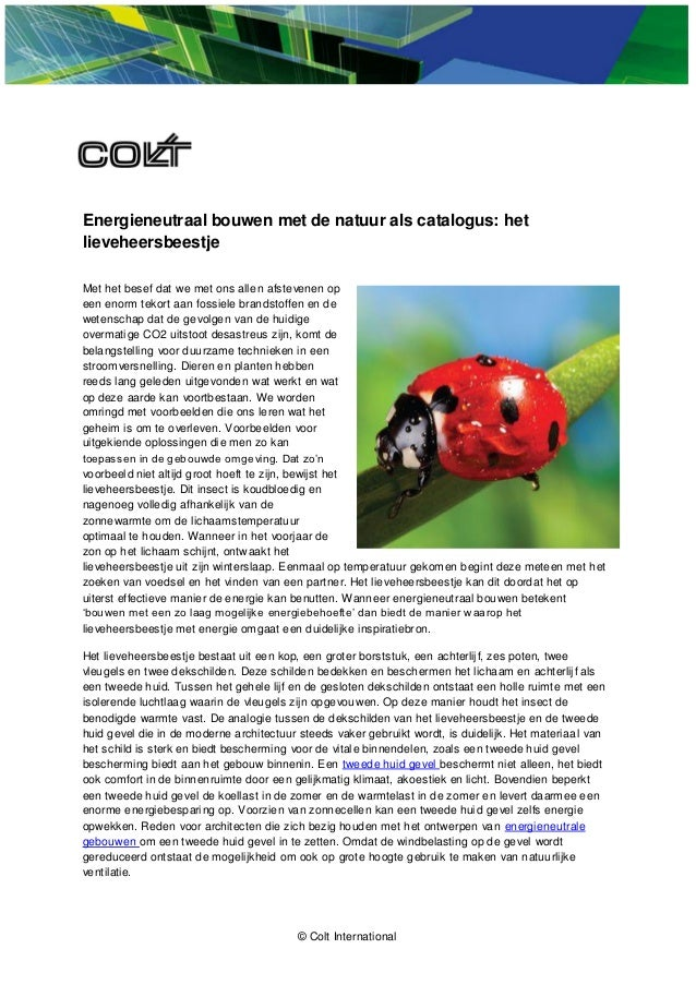 Energieneutraal bouwen met de natuur als catalogus: hetlieveheersbeestjeMet het besef dat we met ons allen afstevenen opee...