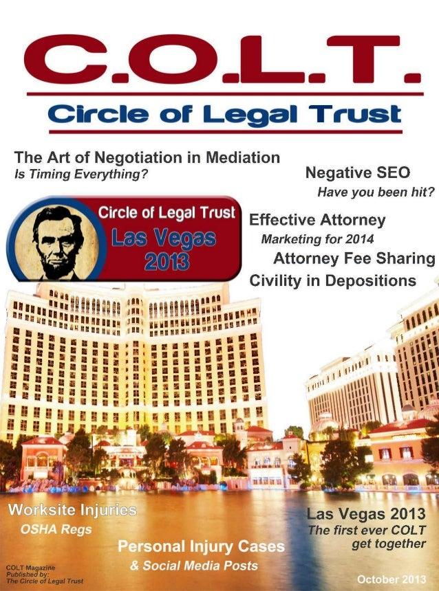 -  -  Circle of Legal Trust  -  The Art of Negotiation in Mediation Is Timing Everything?  Negative SEQ Have you been hit?...