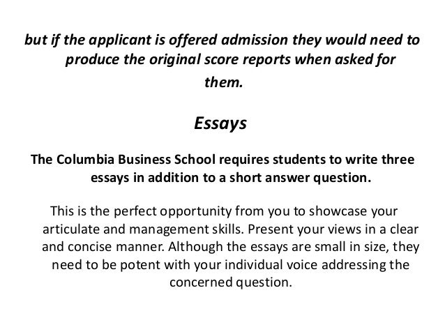 Columbia Business School MBA Essay Topic Analysis