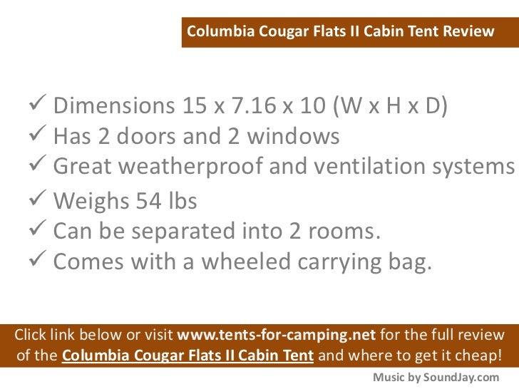 Music by SoundJay.com; 5. Columbia Cougar Flats II Cabin Tent ...  sc 1 st  SlideShare & Columbia Cougar Flats II Cabin Tent