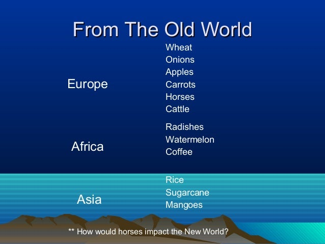 columbian exchange europe and the americas The americas europe columbian exchange trade, switch, etc christopher columbus started it when he arrived in the americas in 1492.