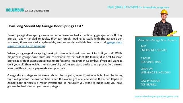 How Long Should My Garage Door Springs Last