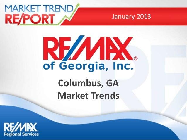 January 2013Columbus, GAMarket Trends