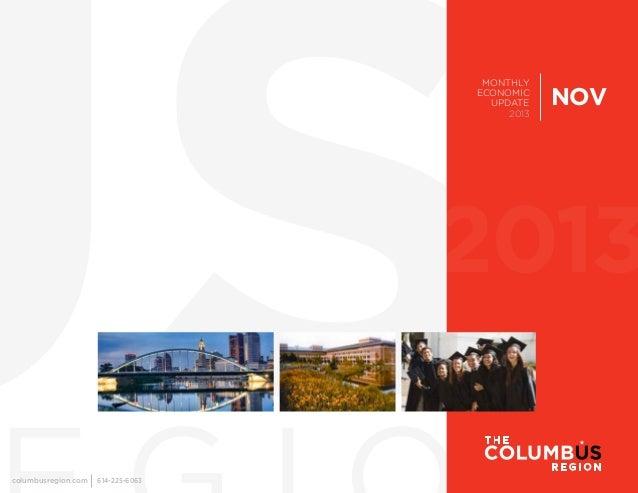 MONTHLY ECONOMIC UPDATE 2013  NOV  2013 columbusregion.com  614-225-6063