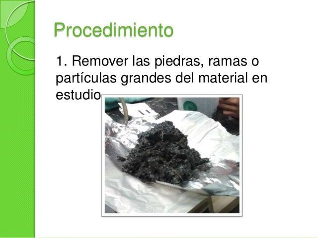 Procedimiento2. Adicionar al suelo1 g de cada una delas sales, el papelfinamente cortado y elhuevodesmenuzado.Mezclar hast...