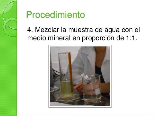Procedimiento5. Añadir la solución anterior ala muestra de suelo hastallegar a una altura deaproximadamente de 3 a 5 cmaba...