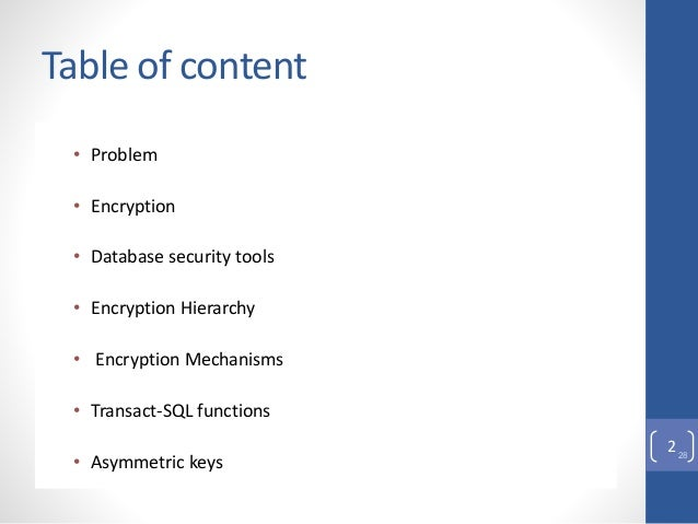 Column Level Encryption in Microsoft SQL Server