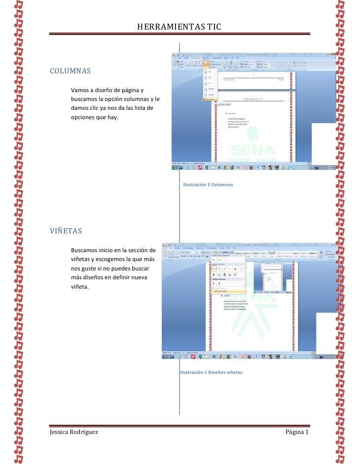 HERRAMIENTAS TICCOLUMNAS       Vamos a diseño de página y       buscamos la opción columnas y le       damos clic ya nos d...