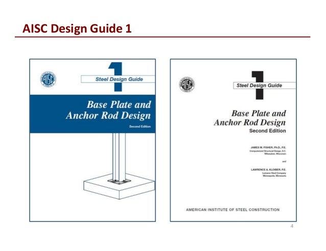 column base plates prof thomas murray rh slideshare net aisc design guide 29 vertical bracing aisc design guide 24 pdf