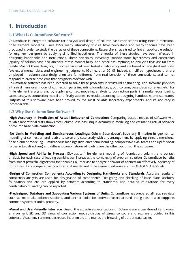 ColumnBase User Manual , v4 0 (Last updated 05 Oct 2017)