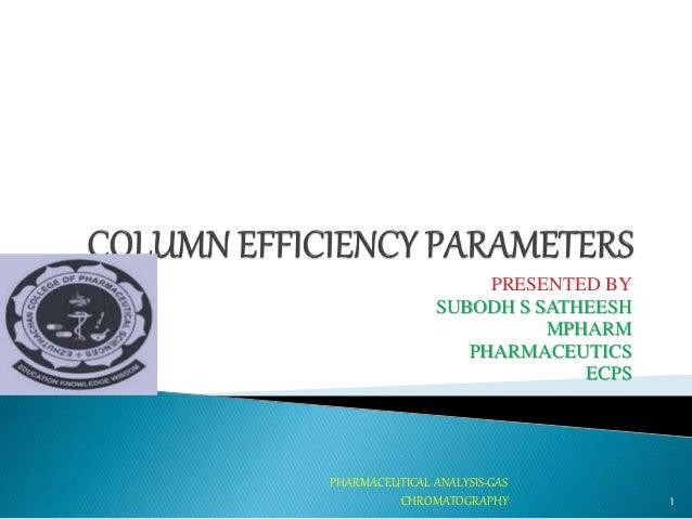 PRESENTED BY SUBODH S SATHEESH MPHARM PHARMACEUTICS ECPS 1 PHARMACEUTICAL ANALYSIS-GAS CHROMATOGRAPHY