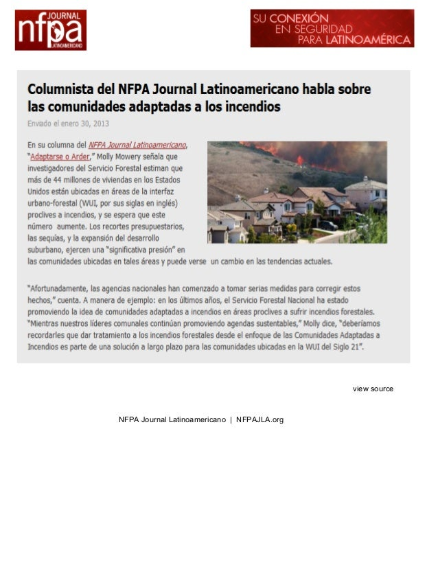 view sourceNFPA Journal Latinoamericano | NFPAJLA.org