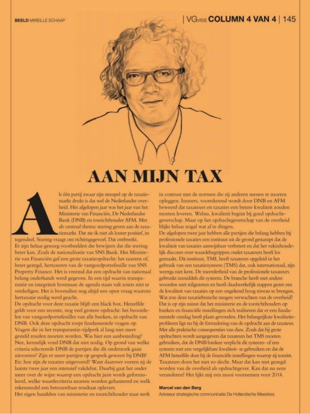 Column Aan mijn tax Marcel van den Berg